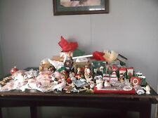HUGE LOT VINTAGE 70's 80's CHRISTMAS ORNAMENTS - Magnets - Handmade - Glass