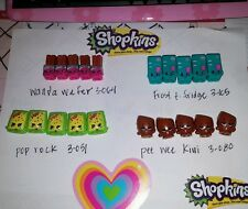 Shopkins lot of 20 season 3 wholesale pee wee kiwi Wanda wafer fridge pop rock