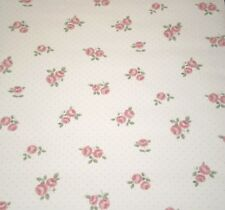 Vintage Pink Floral on Off White with Beige Polka Dots by Seabrook 854BH849