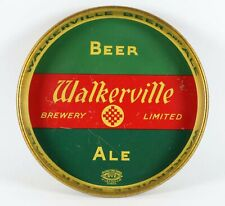 1930s WALKERVILLE BREWING Co TIN LITHOGRAPH ADVERTISING BEER TRAY TIN LITHO TRAY