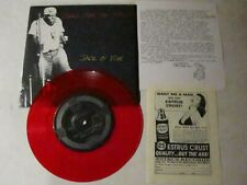 """Jack o' Fire - Clothes Make the Man 7""""  NM- Red Vinyl w/ inserts blues punk"""