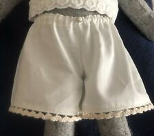 Luna lapin Handmade 100% Cotton Pantaloons In Ivory, Finished with cotton Lace.