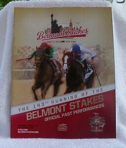 2011 Belmont Stakes Program Ruler on Ice Jose Valdivia Jr
