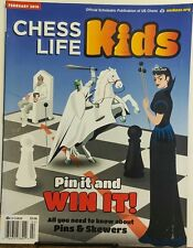 Chess Life Kids February 2016 Pin It and Win It Pins & Skewers FREE SHIPPING sb