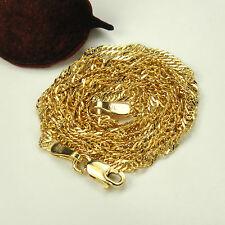 Goldkette Singapurkette Gold 585 Gelbgold Unisex Halskette 45cm Karabiner 1,2mm