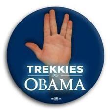 """Trekkies Star Trek for Barack Obama President Button 3"""""""
