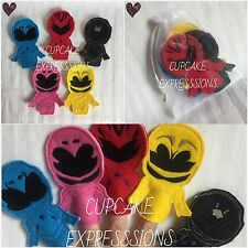 Power Super Hero Finger Puppets - Quiet Time Play Toy Red Pink Yellow Ranger