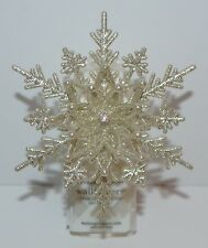 NEW BATH & BODY WORKS GLITTER SNOWFLAKE WALLFLOWER FRAGRANCE PLUG IN UNIT HOLDER