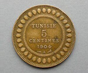 Tunisia. 5 Centimes 1904 A Paris.
