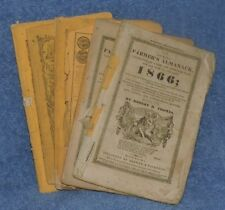 Lot of 6 Farmer's Almanac 1866 (2) 1871 1874 (2)  1875