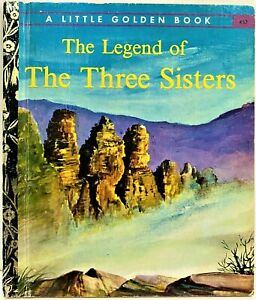 Little Golden Book THE LEGEND OF THE THREE SISTERS Blue Mountains #452 1st SYD