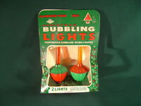 2 Vintage 1950's Christmas Bubbling Lights in Original Box ~ Both Work!!!