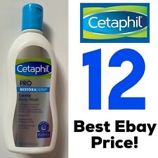 12 Cetaphil Pro Eczema Restoraderm Gentle Body Wash Dry Skin 10 oz Body Wash Lot