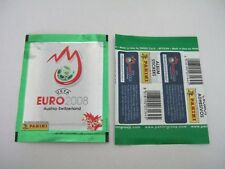 panini euro 2008 1 packet of stickers shiny green version new rare