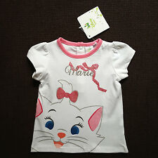 DISNEY BABY t-shirt blanc MARIE LES ARISTOCHATS taille 3 mois neuf