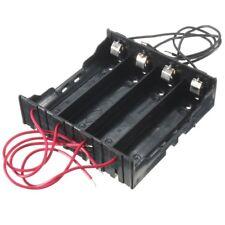 78x80x20mm Kunststoff-Batteriehalter Aufbewahrungsbox Fall 4x3.7V 18650 Akku