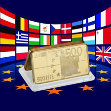 WR 1 oz (environ 28.35 g) fine gold bullion bar Europe 500 euro Art bank note LINGOT Business cadeaux