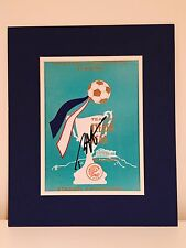 RARE Ron Harris Chelsea Signed Photo Display + COA AUTOGRAPH 1971 ECWC