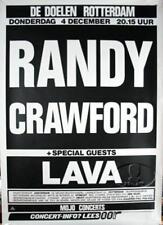 Randy Crawford / Lava 1986 Rotterdam Original Concert Tour Poster / Vg 2 Ex