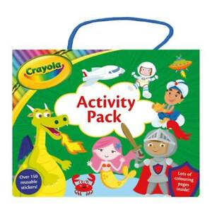 Crayola Activity Pack, Children's Carry Box Set, Colouring Books, Sticker Book