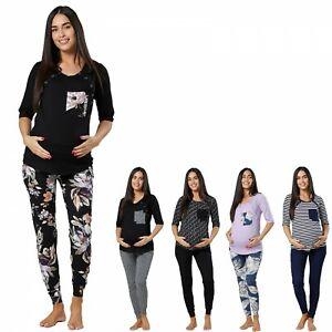 Happy Mama Women's Maternity Nursing Pyjamas Set 1074