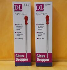 2 Glass Droppers 7 14 Inch Long Manicure Liquids Reduces Spillage And Waste New