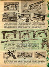 1961 ADVERT Toy Guns Tommy Burst Mattel Detective Pistol Buffalo Hunter Rifle