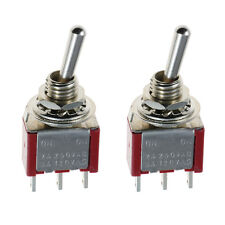 2 X on/on Mini Miniatura interruptor de palanca coche DASH SPDT