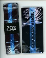 Medium ZOX Silver Strap GUARDIAN ANGEL Wristband with Card Reversible
