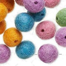 9808 Felt Beads Round 12mm PK25 **UK EBAY SHOP**