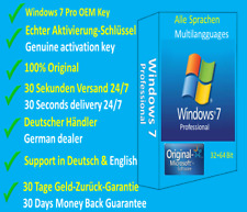 Windows 7 Professional Pro 32+64 Bit✔Original OEM🔑Schlüssel Genuine Product Key