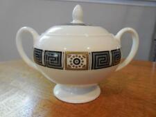 Wedgwood Black Asia bone china globe shape sugar box and lid R4288 - EXCELLENT!!