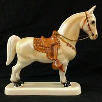 "Exceptional Detailed Porcelain Horse Figurine China Animal Palomino 9"" x 8"""