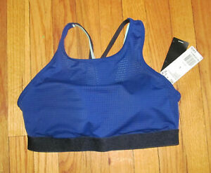 ADIDAS Women's Dark Blue Halter Sports Bra 2.0 DU1281 L NWT