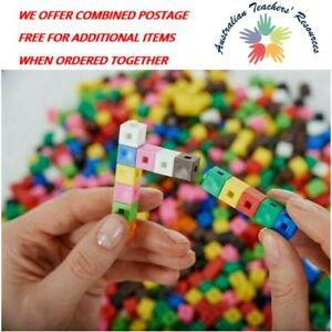 1 cm x 100 Cubes Counting Interlocking Blocks Australian Teachers Resources