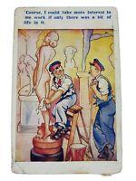 "Vintage Comic Cartoon Postcard ""Life in Me Work"" English Postmark 1908?"