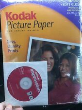 "KODAK Picture Paper 10 SHEETS Soft Gloss 8.5"" x 11"" New Sealed  With CD"
