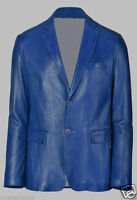 New Style! Mens Genuine soft Lambskin Leather TWO BUTTON Blazer Jacket Coat MB20