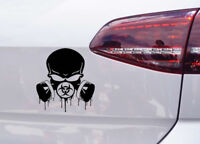 Totenkopf Gasmaske Tuning Aufkleber Zombie Blut Sticker Skull Motorrad Biohazard