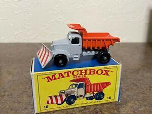 Matchbox Lesney #16-C Scammell Dump Truck Snow Plough in Original E4 Box