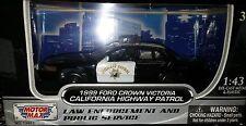 1999 Ford Crown Victoria CHP Interceptor Diecast Car 1:43 Motormax 5 inch Police