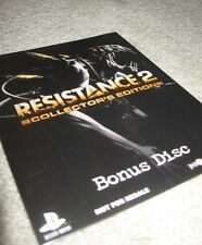 Resistance 2 Collector Edition BONUS DISC PS3/PS4, special limited ii new SEALED