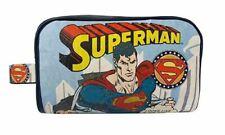 SUPERMAN COMIC STRIP VINTAGE STYLE TOILETRIES WASH COSMETICS BAG