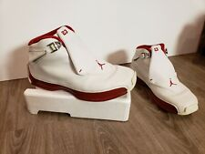 Nike Air Jordan XVIII 18 White Red OG Youth Size 7Y 305886 161 Pre-owned