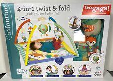 Infantino Go Gaga! 4-in-1 Twist & Fold Activity Gym & Play Mat BPA-Free ~ NEW