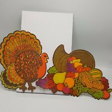 Thanksgiving Wall Decoration CutOut Turkey Cornucopia Paper Fall Autumn Harvest