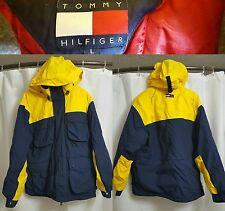 Vintage 90's Tommy Hilfiger COLORBLOCK Hood Rare Down Jacket Coat sz LARGE