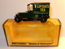 MATCHBOX LESNEY YESTERYEAR MADE ENGLAND TALBOT VAN 1927 LIPTON'S TEA CITY LONDON