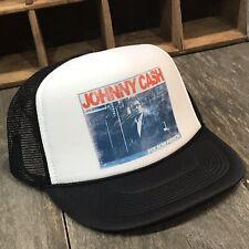 Johnny Cash Country Music Folsom Prison Trucker Hat Vintage 80's Style Snapback