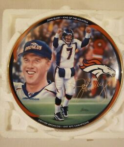 """RARE John Elway 'BOUND FOR GLORY' 8"""" Bradford Exchange Plate *AUTHENTICATED*"""